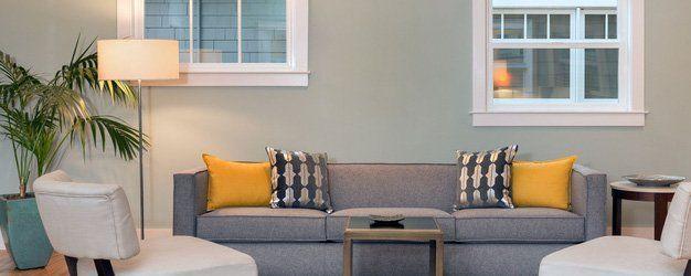 Lamp in a modern living room