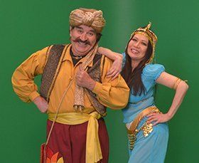 Bill Perron Magician as Swami & Princess