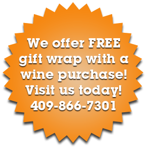 We offer FREE gift wrap with a wine purchase! Visit us today!