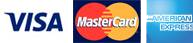Visa Master Card and American Express logos