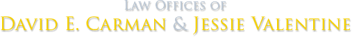 Law Offices of David E. Carman & Jessie Valentine - Logo