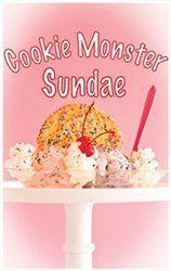 Cookie monster sundae