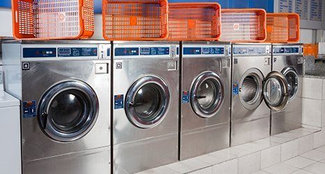 Coin laundry washer