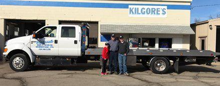 Kilgore's Towing Flat Bed Truck