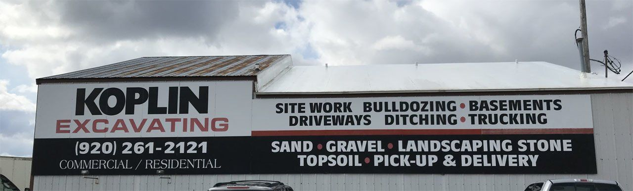Koplin Excavating & Grading | Excavators | Watertown, WI
