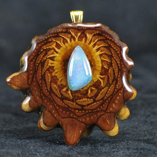 Third Eye Pinecone Gemstone Pendants