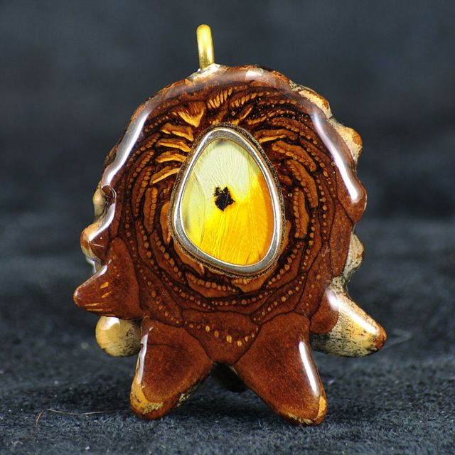 Third Eye Pinecone Butterfly Wing Pendants