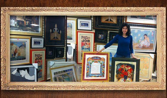 Valeria with photo frames, 5 towns