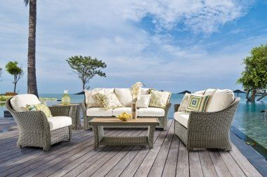 ... Patio Furniture Made From Different Materials, Such As Cast Aluminum Or  Outdoor Resin With Sunbrella Fabric. You Can Also Entertain Your Guests  This ...