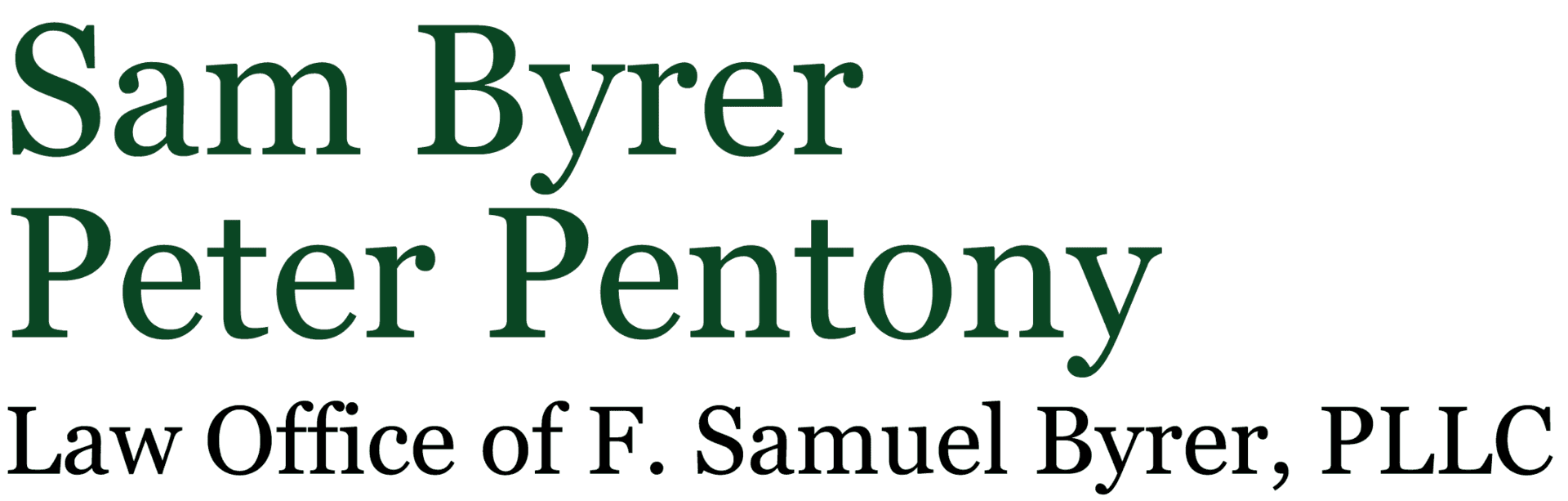 Law Offices of F. Samuel Byrer PLLC - Logo