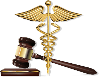 Caduceus  and gavel