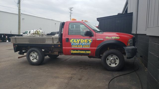 beef4f8eb2 ... vehicles are to your commercial business. Here at Clyde s Frame   Wheel  Service