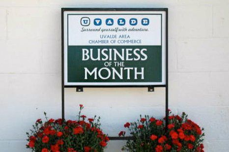 Business of the month sign