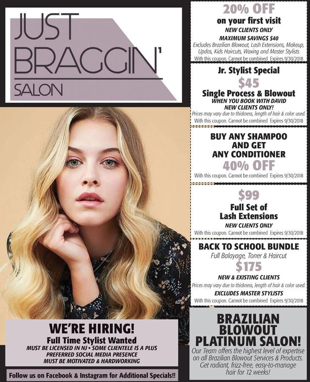 Just Braggin Salon Stylists Manahawkin Nj