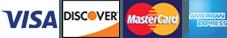 Visa, MasterCard, Discover, American Express