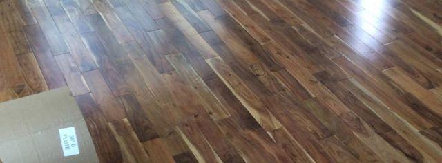 Finished hardwood floor installation