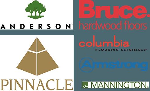 Anderson, Bruce Hardwood, Pinnacle, Columbia, Mannington, Armstrong