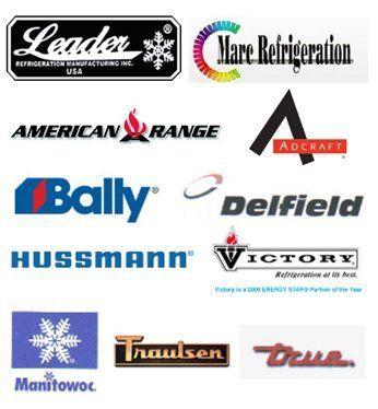 Leader | Marc Refrigeration | American Range | Adcraft | Bally | Delfield | Hussmann | Victory | Manitowoc | Traulsen | True