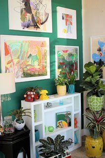 Wall with art for children's room