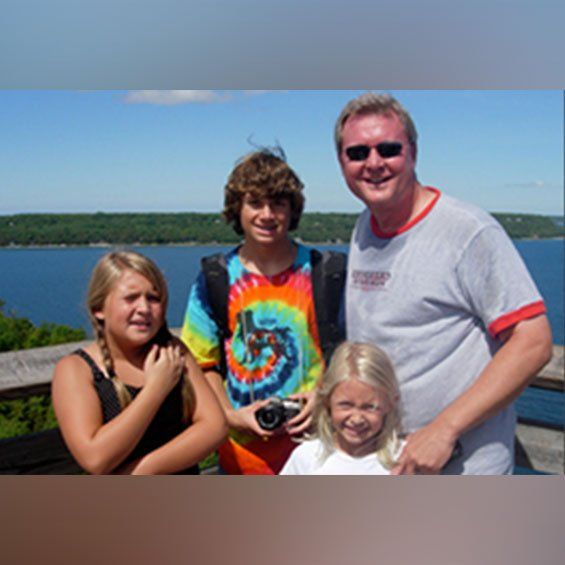 Dr. Brian Fitz with his family