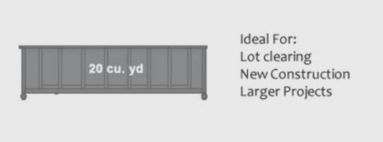 20 cu. yard Dumpster