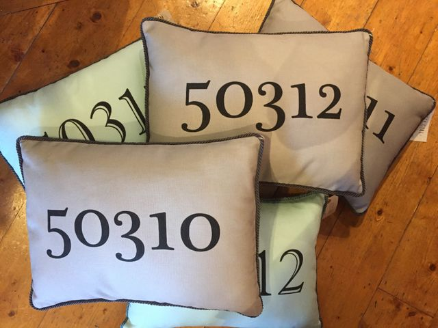Barb Carlston Zip Code Pillows