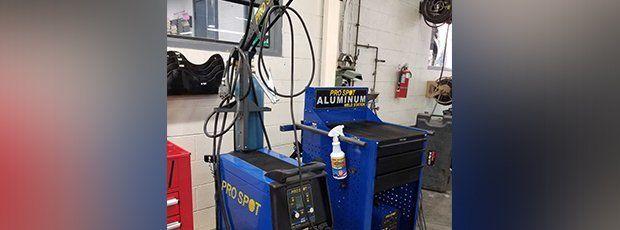 Aluminum body repair equipment