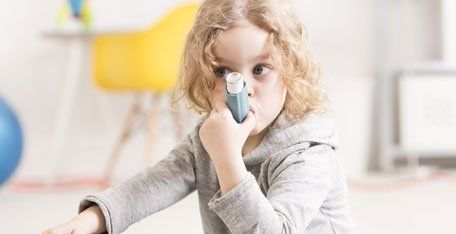 Girl with asthma