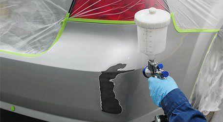 Scratch in the car paint