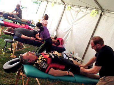On-site massage service