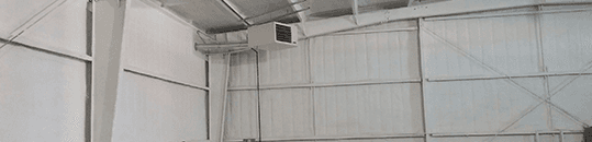 Spray foam interior insulation with fireproof coating