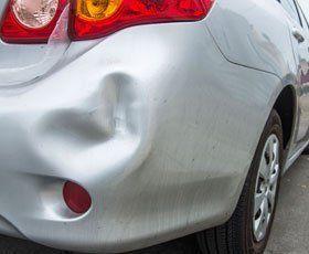 Collision dent