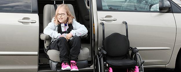 Girl in valet seat