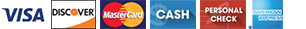 Visa Discover MasterCard Cash Personal Check Amex