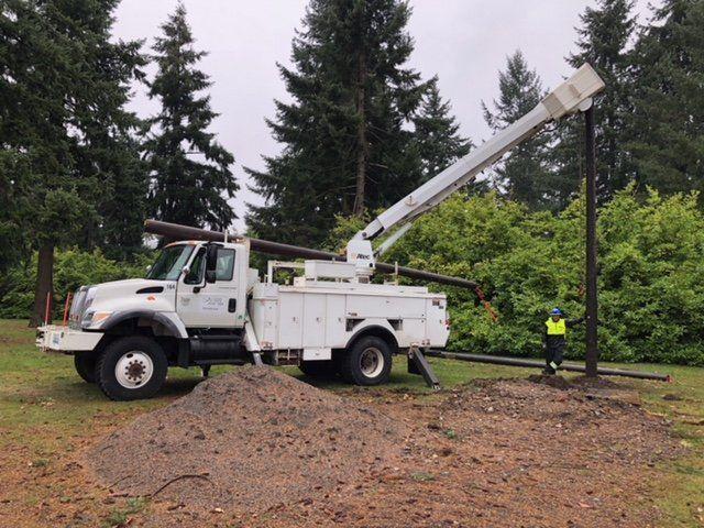 Utility Pole Installations   Pole Replacement   Bremerton WA