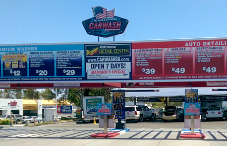 Stars & Stripes Car Wash shop