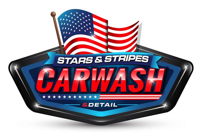 Stars & Stripes Car Wash logo
