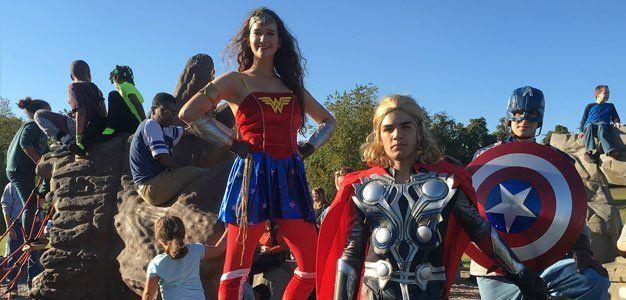 superhero characters entertainers wilmington de