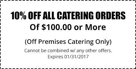10% Off All Catering Orders