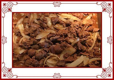 Delicious beef onions