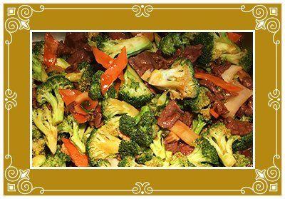 Fresh broccoli dish