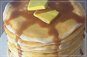 Hotcake inspired cake
