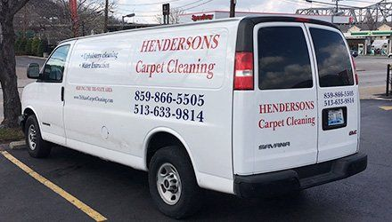 HENDERSON'S CARPET CLEANING cab