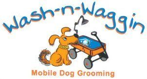 Wash-N-Waggin Mobile Dog Grooming Logo