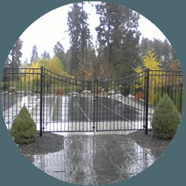 oriental iron fence