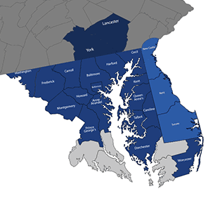 Delta Restaurant Equipment Service - Service Area Map