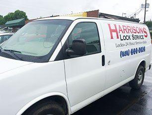 Harrison's Lock Service truck