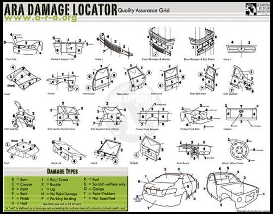 ARA damage locator