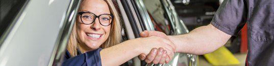 Happy Customer with Car Loan Service