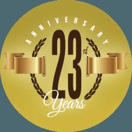 Anniversary 23 years - Logo